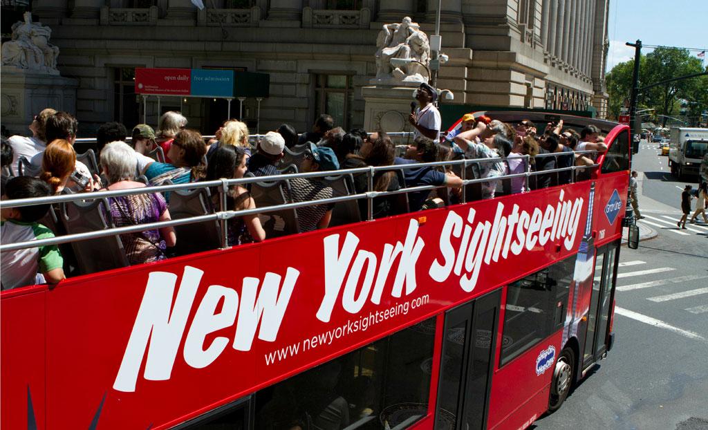 Туристический автобус в Нью-Йорке