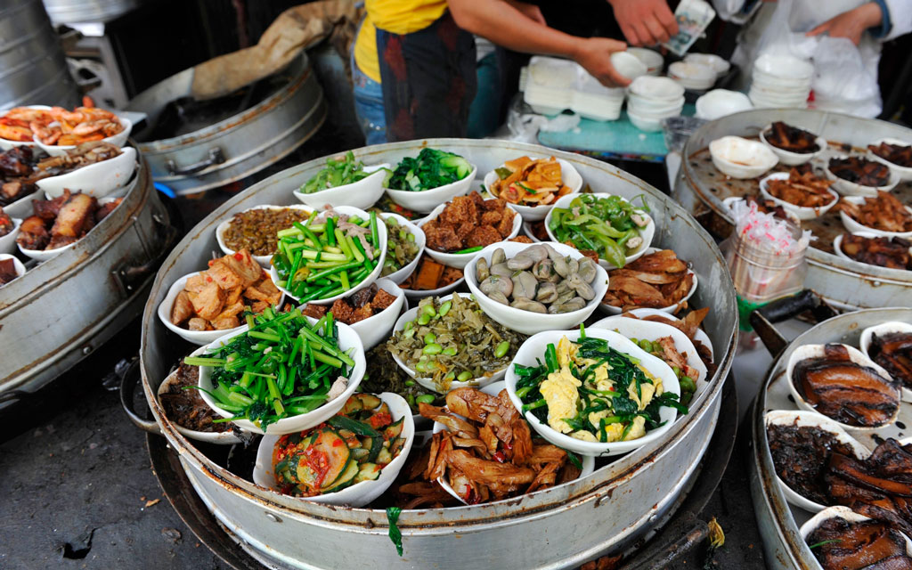 Уличная еда в Шанхае