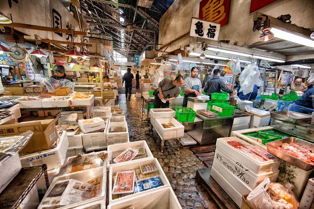 Рыбный рынок Tsukiji