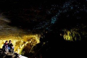 Пещера светлячков Вайтомо в Новой Зеландии