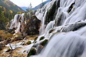 Водопад Жемчужина в Цзючжайгоу