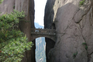 Мост бессмертных на жёлтой горе Хуаньшань