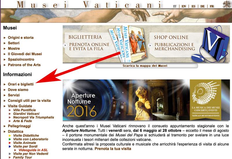 Как купить билет в музеи Ватикана онлайн