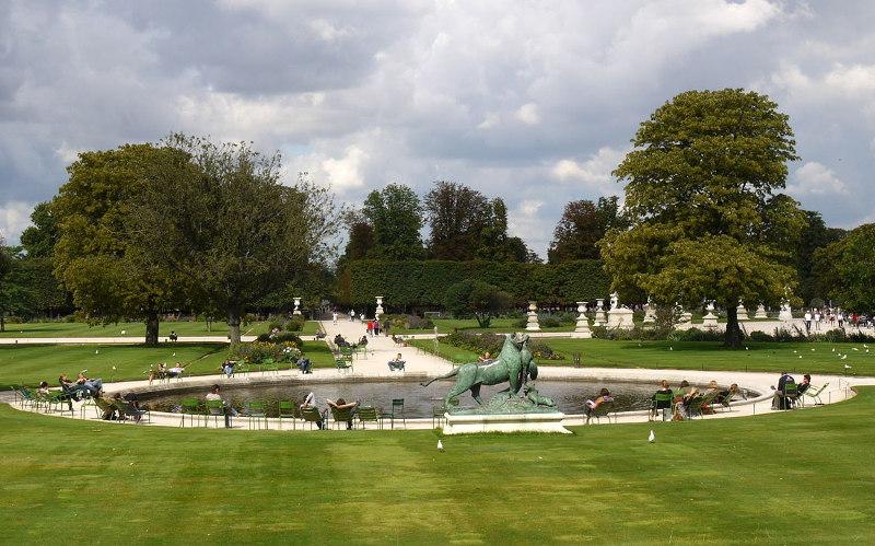 Сад, Тюильри, Париже, Франция, Париж, площадь, парк, Сена