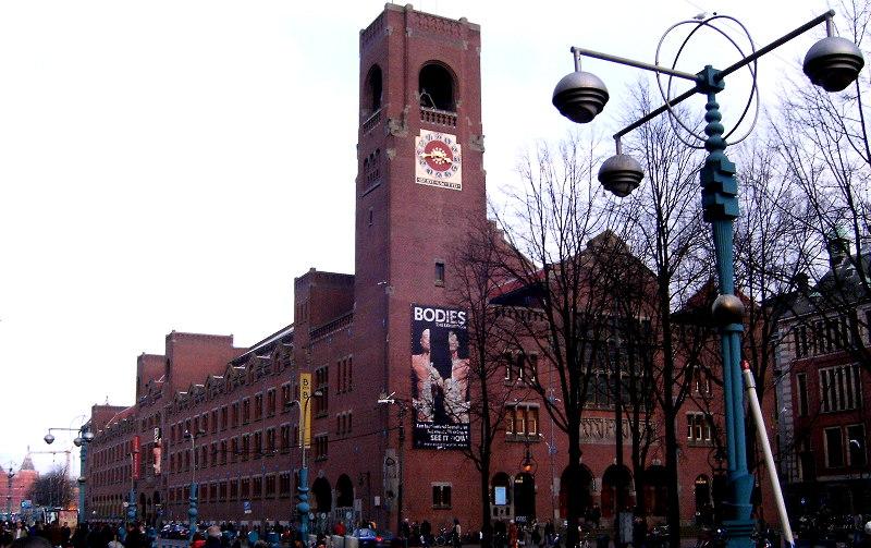 Самостоятельная, экскурсия, центру, Амстердама, биржа, Берлаге, бык, дамрак