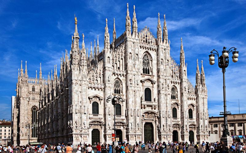 Милан, 1, один, день, Италия, Дуомо, Семпионе, парк, Кордузио, площадь, театр, галерея, ласкала