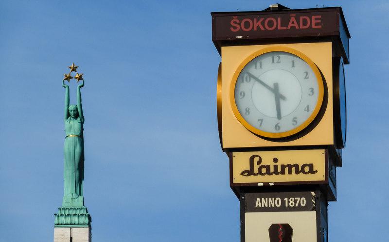 Что, посмотреть, Риге, один, день, Рига, Латвия, часы, Лайма, фонтан, нимфы