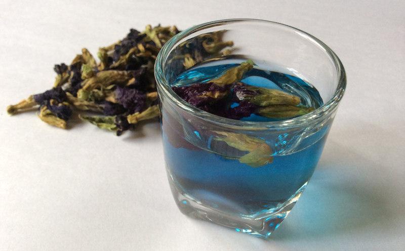 синий чай вкус