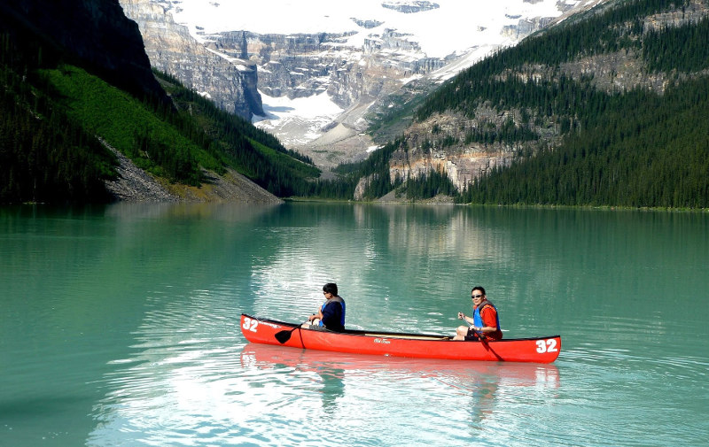 озеро, Луиза, Канада, страна, водоем, горы, парк