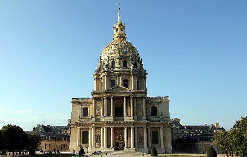 Дом, инвалидов, Париже, Франция, Париж, комплекс, пантеон, музей