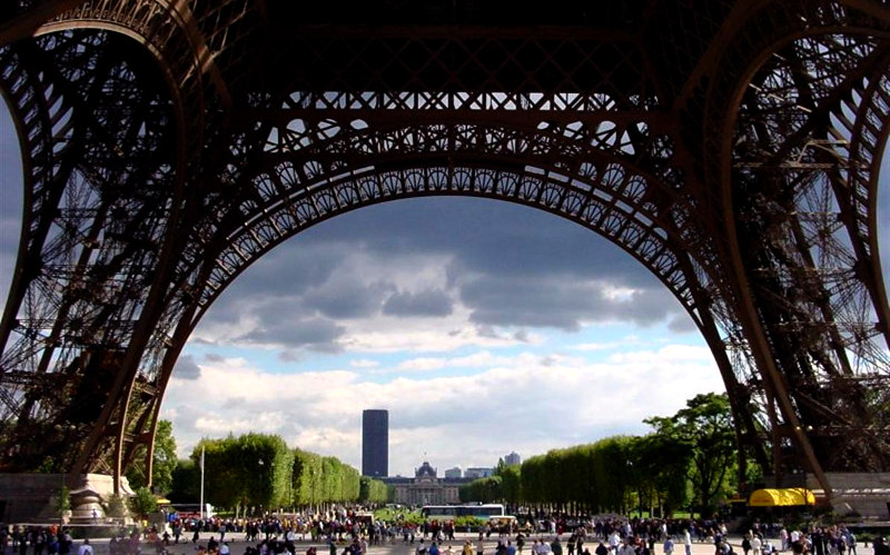 Марсово, поле, Париже, Франция, парк, достопримечательности, Сена,