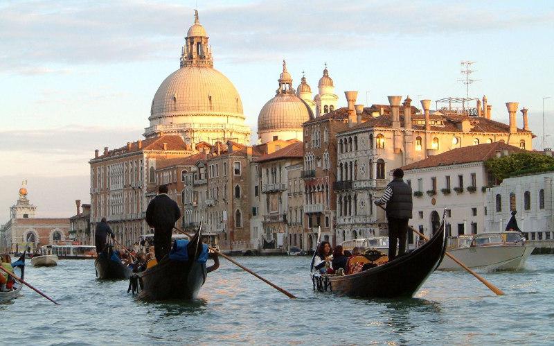 Общественный, транспорт, Венеции, Венеция, Италия, вапоретто, маршрут, теплоход