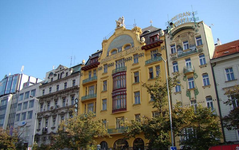 Гостиница Grand Hotel Europa, Прага