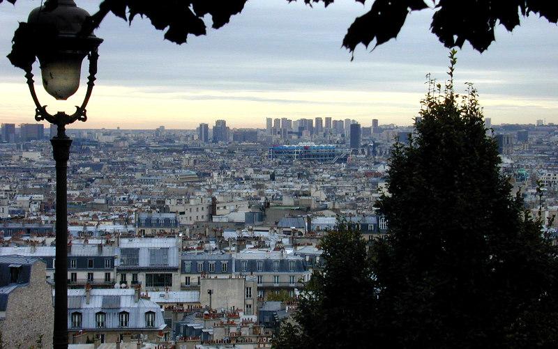 Монмартр, Париже, Франция, Париж, Франция, Тертр, площадь, сакрекер,