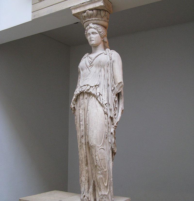 часть колонны храма Эрехтейон