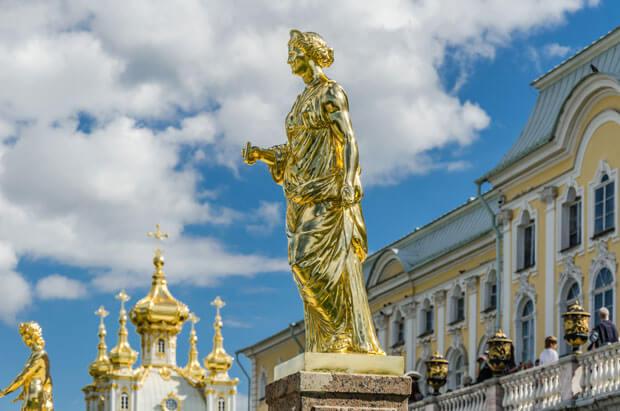 Большой каскад в Петергофе