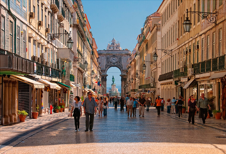 Улица Аугушта и Триумфальная арка, Лиссабон