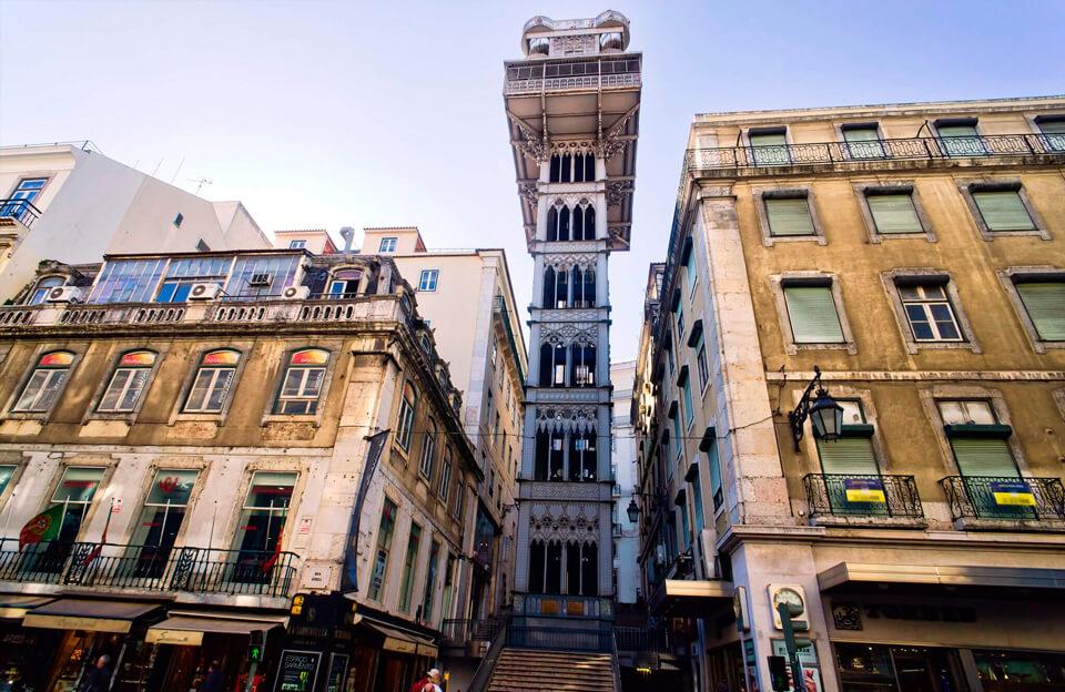Лифт Санта-Жушта, Лиссабон