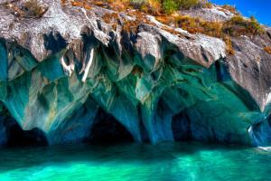 Мраморные пещеры Чиле-Чико в Чили