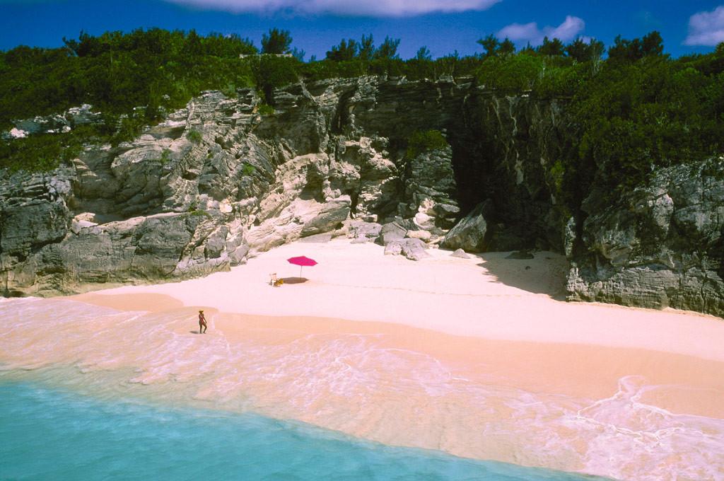 фото багамы розовый пляж пришел
