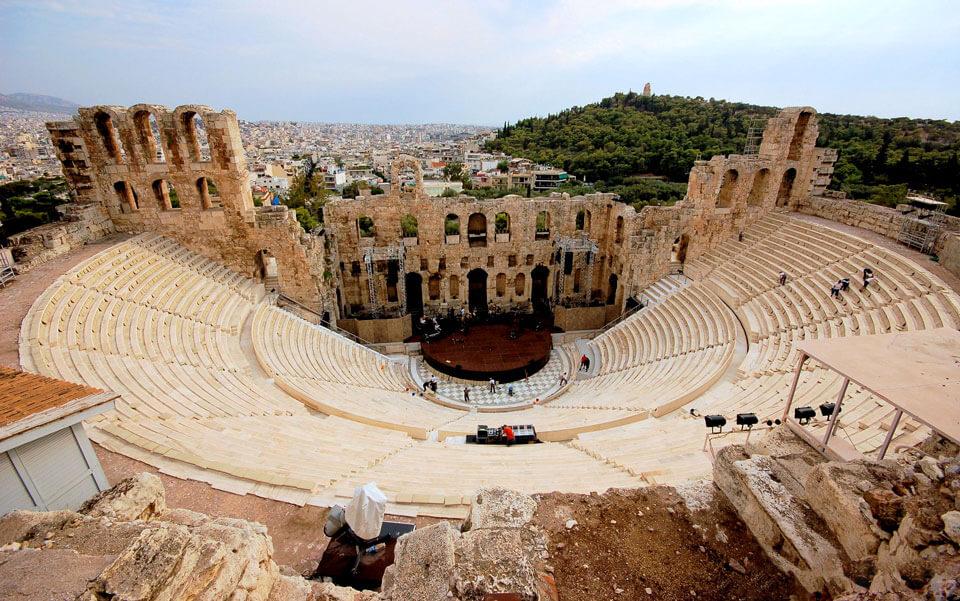 Одеон Герода Аттика, Афины