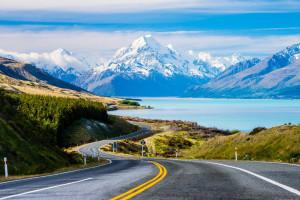 Озеро Пукаки в Новой Зеландии
