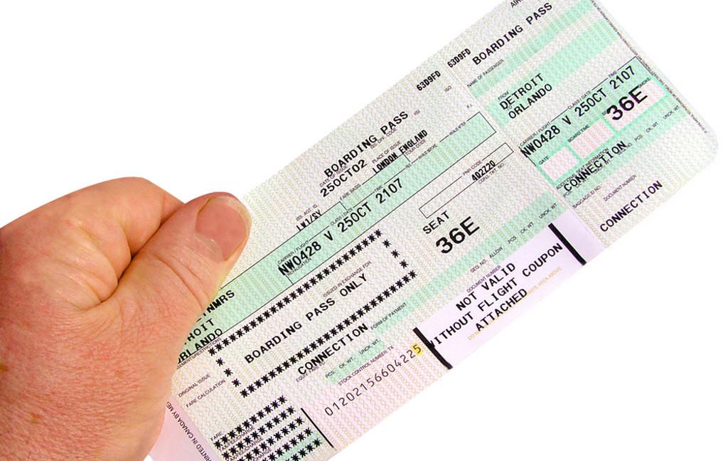 фото билета на самолет