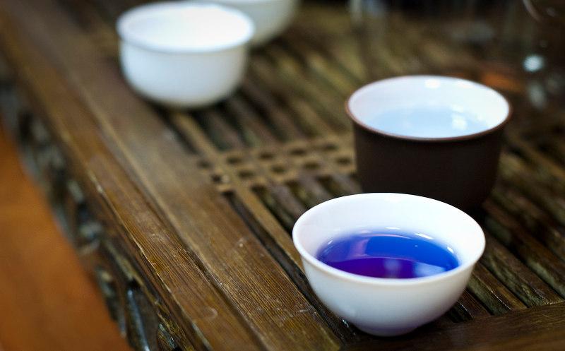 чай, Тайланд, синий, голубой, лепестки
