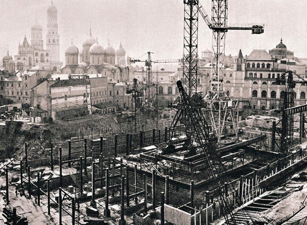 фотографии строительства в старой москве