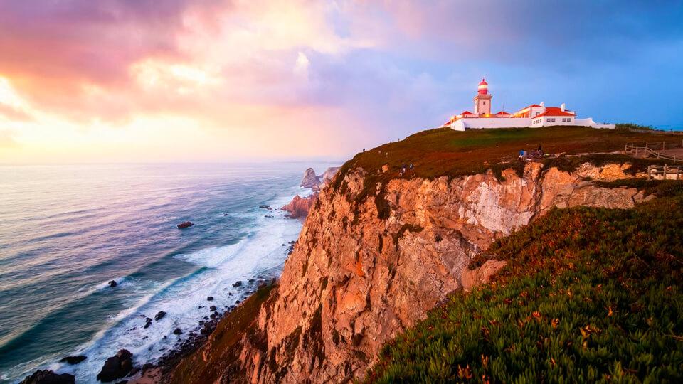Закат на мысе Рока, Португалия