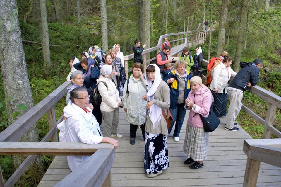 Туристы на острове Валаам