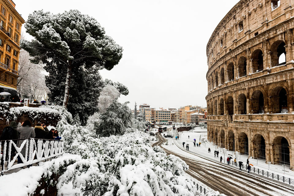 Рим зимой