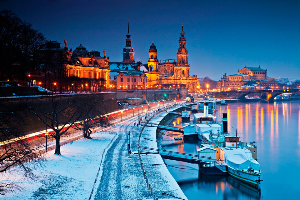 Дрезден зимой