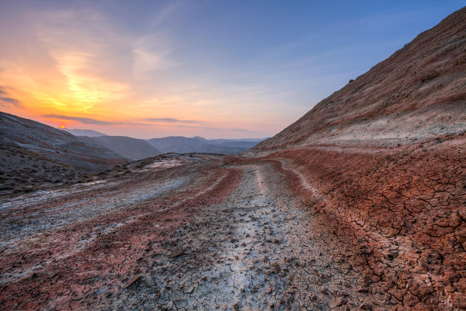 Цветные горы Хызы, Азербайджан