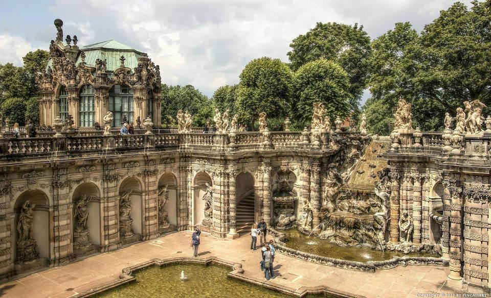 Фонтан «Купание нимф», Дрезден