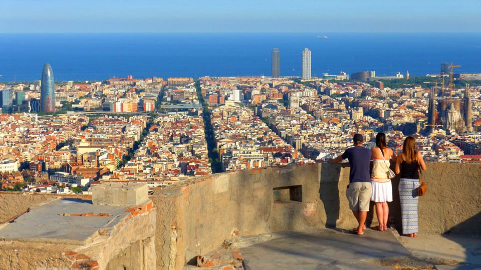 Крыша бункера EL Carmel, Барселона