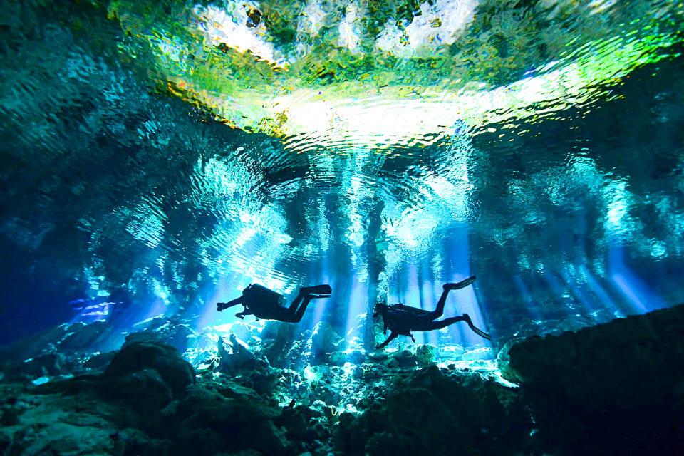 Захватывающий дайвинг впещерах, Канкун