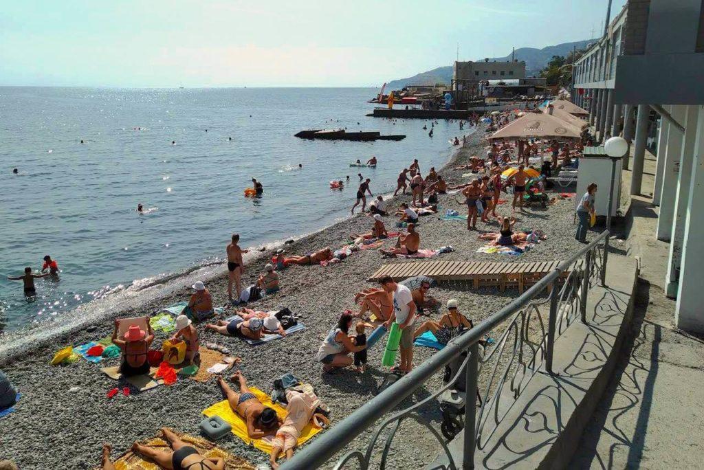 Пляж Гороно, Ялта