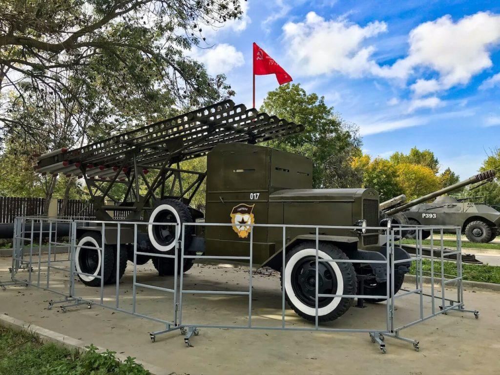 Сквер военной техники, Анапа
